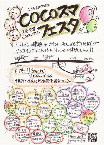 COCOスマフェタ手書きポスター子育て支援ネットワーク COCOスマイルのブログ