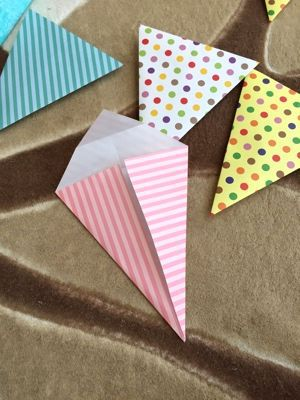 ハート 折り紙 : 折り紙 ガーランド 作り方 : miya.ti-da.net