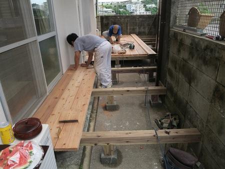 建築アトリエ海のブログ:洗濯物干し場