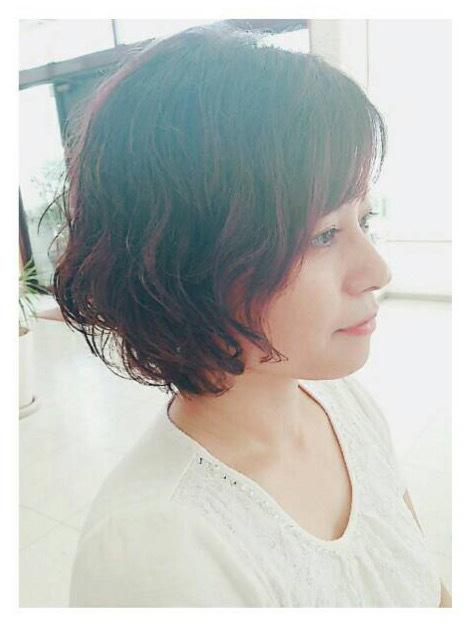 30代40代50代☆大人ショートボブ パーマスタイル☆ヘアスタイル