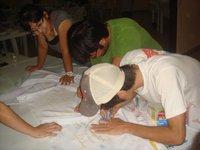 世界若者ウチナーンチュ連合会 ボリビア支部 メッセージフラッグ